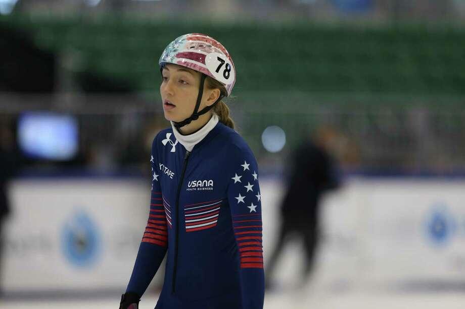 Fairfield's Kristen Santos, a 2012 graduate of Warde High School, is a member of the 2017 United States World Cup speedskating team. Photo: John Kim /US Speedskating / John Kim /US Speedskating