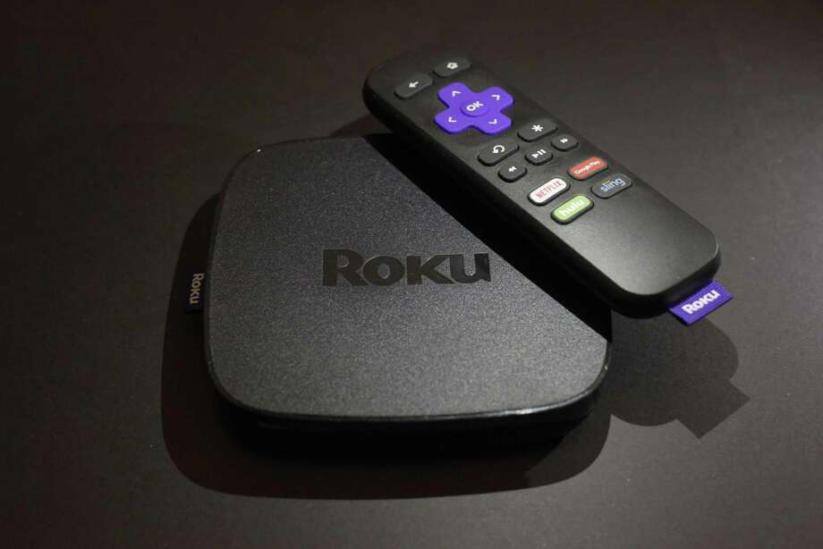 On display is the Roku Premiere streaming TV device. Shares of Roku, an early player in streaming-video gadgets, are soaring Thursday after an initial public offering raised $219 million. It is best known for its boxes and sticks that let users watch Netflix, Hulu and the growing universe of streaming-video options on their TVs. Photo: Associated Press File Photo / Copyright 2017 The Associated Press. All rights reserved.