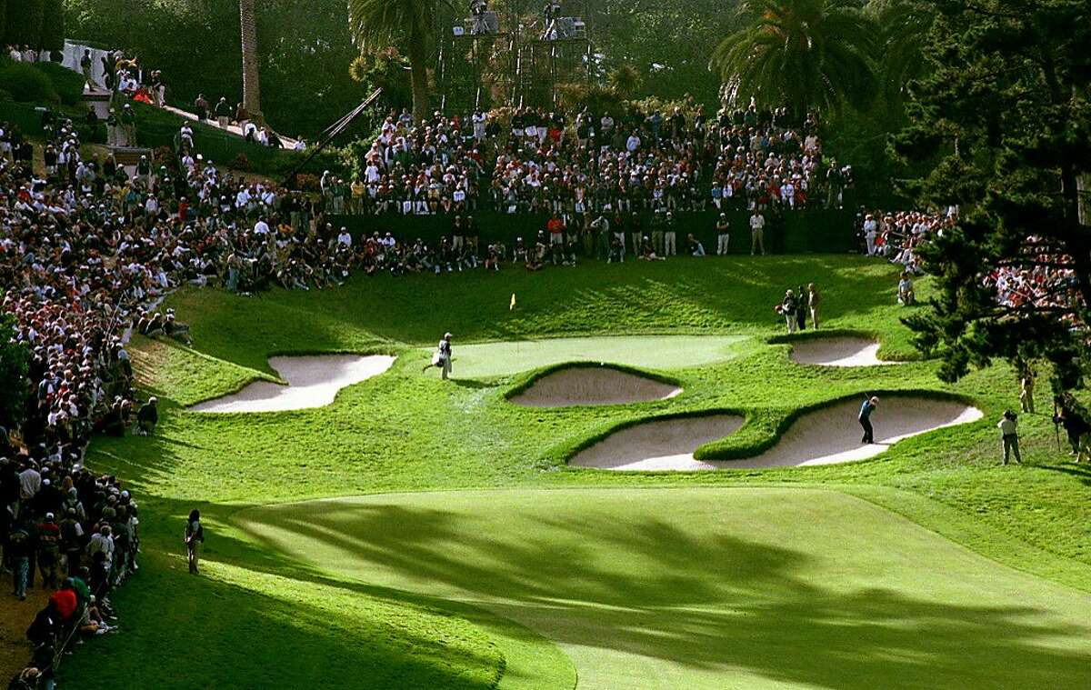 The tough 18th hole at The Olympic Club Lake Course in San Francisco during the third round of the 1998 US Open.