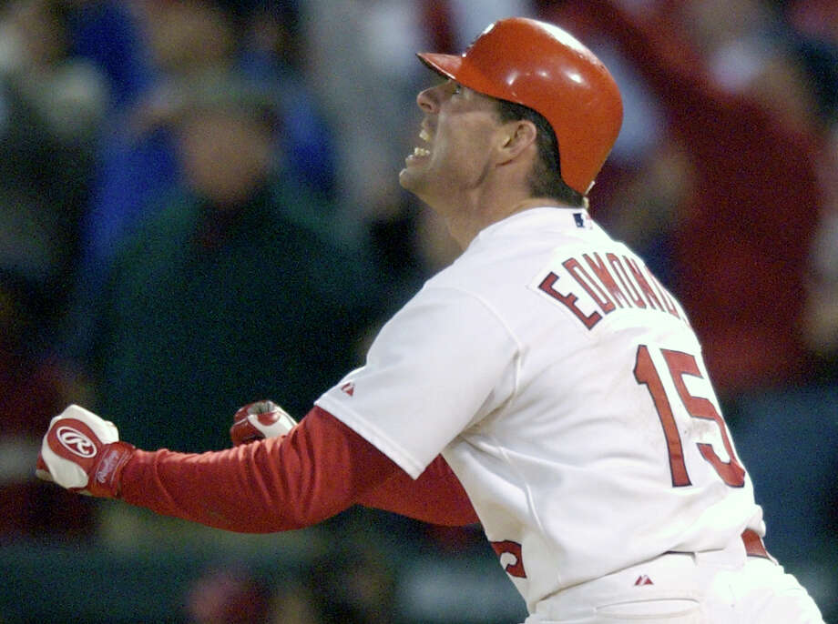 Jim Edmonds' Game 6 homer was a gut punch to the Astros, who instead of punching their ticket to the World Series, were forced to a decisive Game 7 of the NLCS. Photo: Melissa Phillip, Houston Chronicle / Houston Chronicle