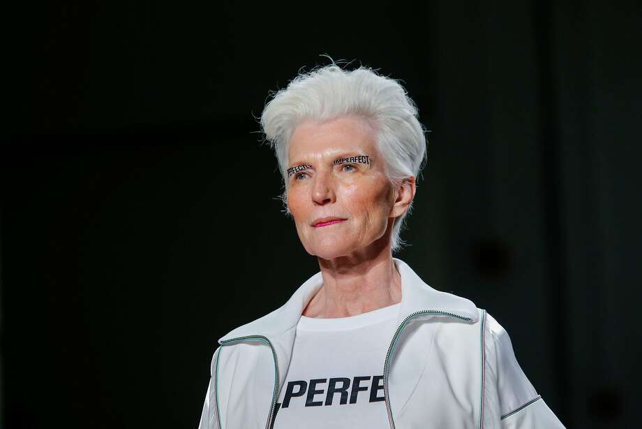 Maye Musk walks the runway for the Concept Korea show during New York Fashion Week on September 8, 2017 in New York. Musk, mother of the famous boss of Tesla Elon Musk, will take part in the Concept Korea show. / AFP PHOTO / EDUARDO MUNOZ ALVAREZEDUARDO MUNOZ ALVAREZ/AFP/Getty Images Photo: EDUARDO MUNOZ ALVAREZ, AFP/Getty Images