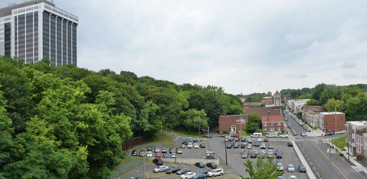 A view of Sheridan Hollow from the Sheridan Hollow Parking Garage Tuesday August 15, 2017 in Albany, NY. (John Carl D'Annibale / Times Union)