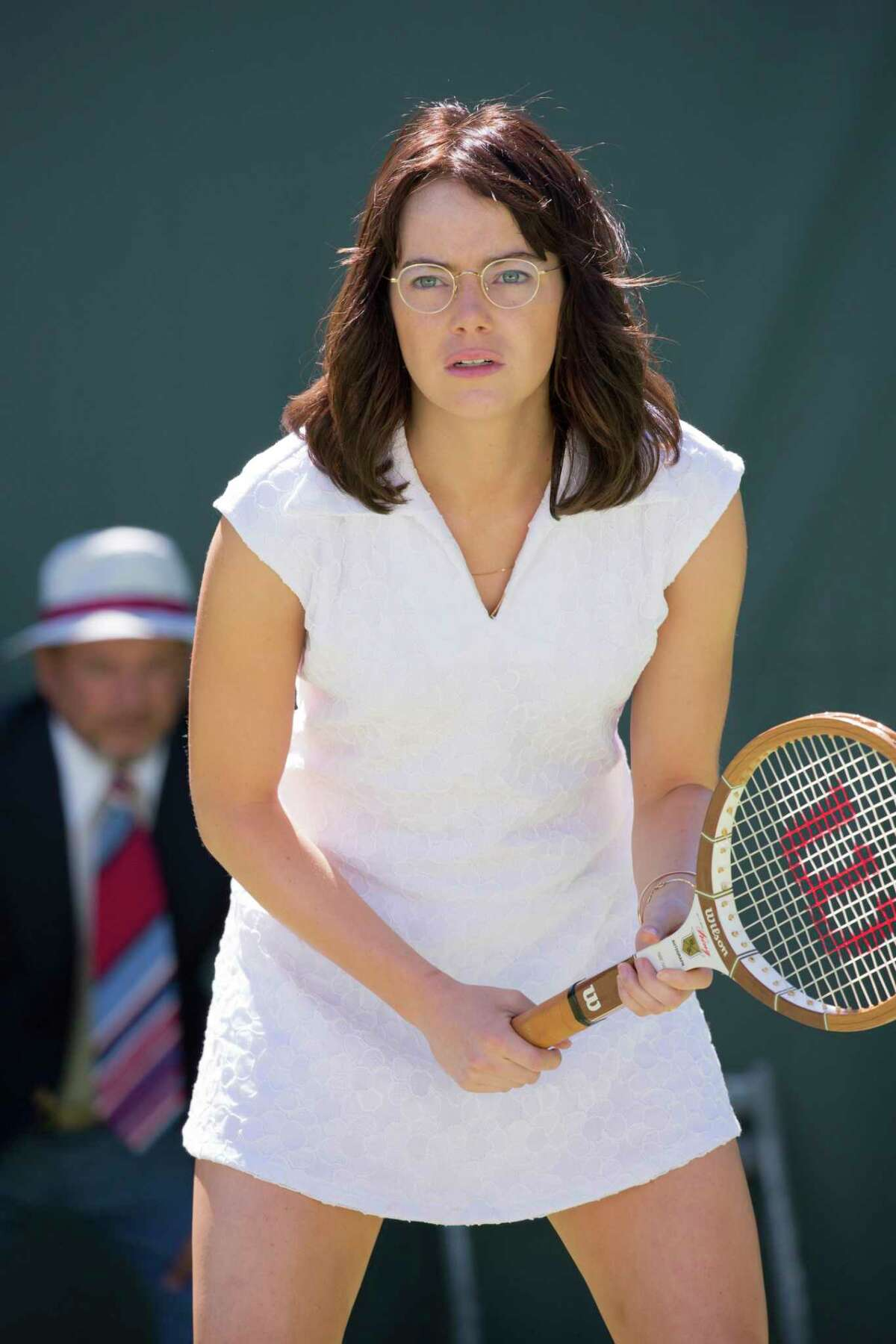 """This image released by Fox Searchlight Pictures shows Emma Stone in a scene from """"Battle of the Sexes."""" (Melinda Sue Gordon/Fox Searchlight Pictures via AP) ORG XMIT: NYET617"""