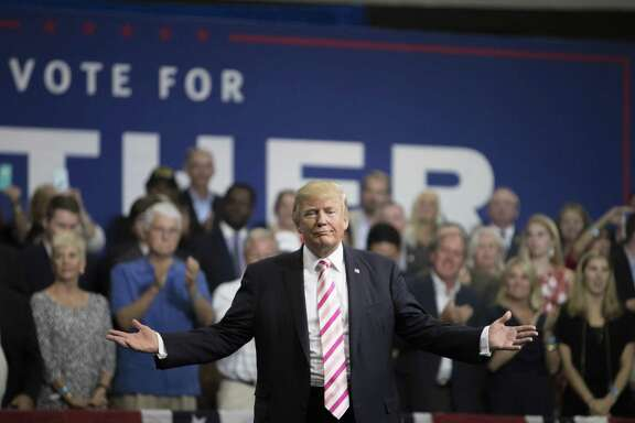 President Donald Trump speaks during a rally for Sen. Luther Strange (R-Ala.), in Huntsville, Ala., Sept. 22. His criticism of NFL players who kneel during the national anthem sparked widespread NFL protest.