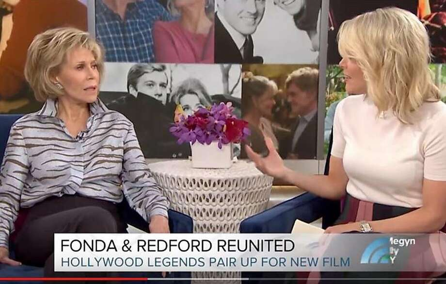 Jane Fonda reacts to being asked about plastic surgery by Megyn Kelly.  Photo: NBC