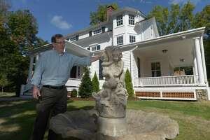 Former owner Kevin Shea at the house he grew up in, at 250 Chestnut Hill Road, in Norwalk on Wednesday.
