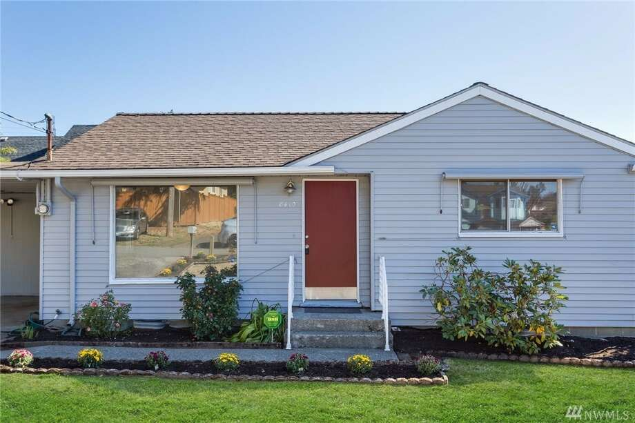 The first home, at 8410 39th Ave. S., is listed for $325,000. It is in Beacon Hill.The two-bedroom, one-bathroom home spans 760 square feet. It has a 260-square-foot covered deck in the backyard as well as a two-car carport.There will be a showing for this home on Saturday, Sept. 30, and Sunday, Oct. 1, from 1 p.m. to 4 p.m. You can see the full listing here. Photo: Photos Courtesy Mary Nguyen, Floorplan Online/listing Courtesy Terry Miller, Coldwell Banker Bain