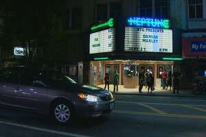 A baby girl was born Wednesday at the Neptune Theater in Seattle.