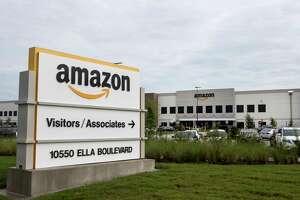 The Amazon warehouse complex is shown on Wednesday, Sept. 27, 2017, in Houston. ( Brett Coomer / Houston Chronicle )