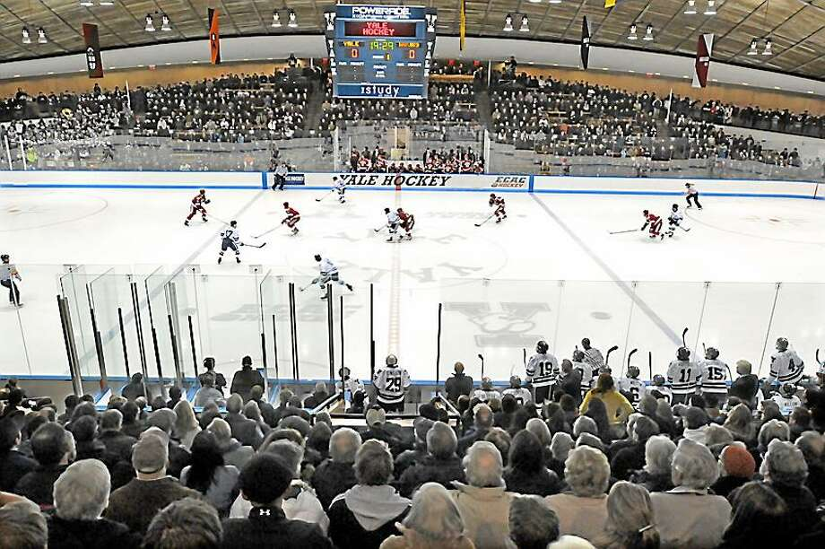 It looks as though the Yale hockey team will be joining up with Quinnipiac, UConn and Sacred Heart for an all-Connecticut Division I tournament starting in the 2019-20 season. Photo: Hearst Connecticut Media File Photo