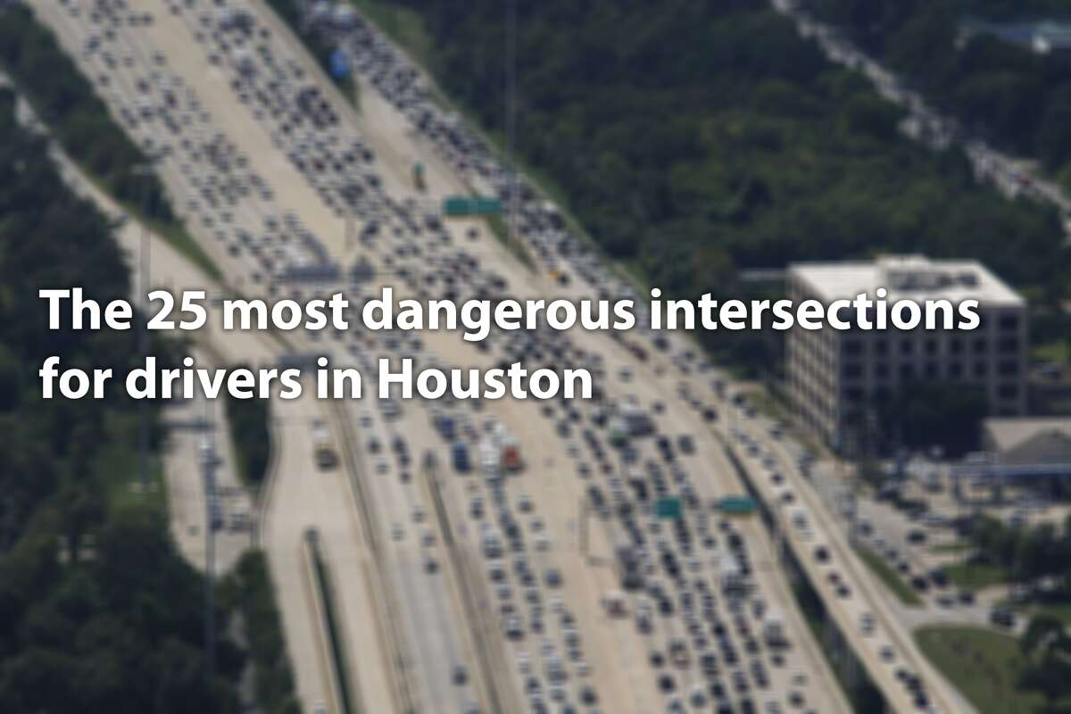 25 most dangerous intersections for drivers in Houston