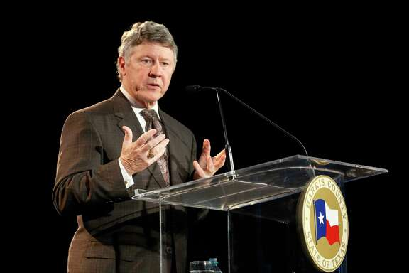 Ed Emmett delivers the State of the County address Tuesday, Feb. 2, 2016, in Houston. ( Steve Gonzales  / Houston Chronicle  )