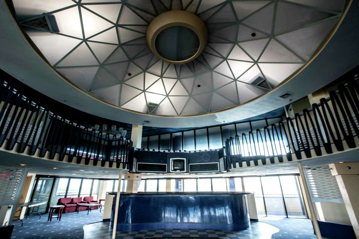 A mini Astrodome is shown inside the Celestial Suites atop the Crowne Plaza Hotel, the former Astroworld Hotel, on Thursday, Sept. 28, 2017, in Houston.