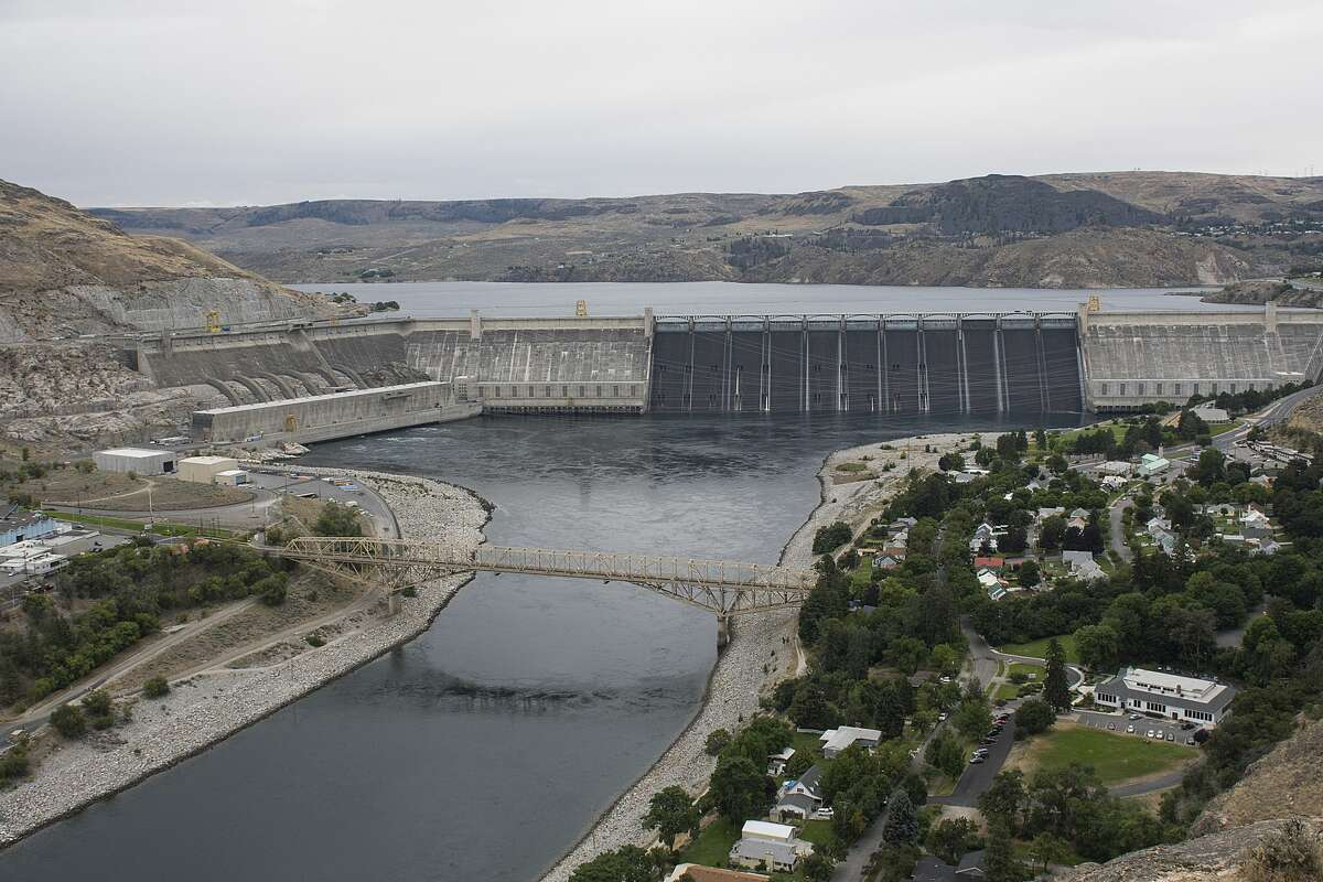 The path to a 100 percent clean energy future in Washington is helped mightily by the third powerhouse, seen on the left side of Grand Coulee Dam.