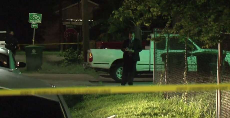 A person was shot in the chest early Friday after trying to rob two people who were sitting in a car in southeast Houston. Photo: Metro Video