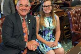 State Rep. Edward J. Canfield is pictured with Adrianna Jackson of Caro. (Submitted photo)