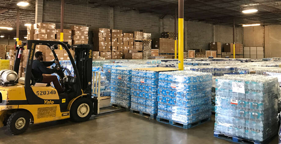 CenterPoint Properties has provided an auxiliary warehouse to Houston Food Bank a mile away from its headquarters. Photo: CenterPoint Properties