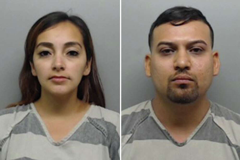 Claudia Sanchez, 30, and Nicolas Sanchez, 28, were charged with assault on a public servant. Photo: Webb County Sheriff's Office