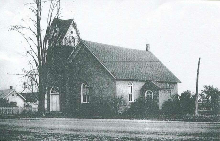 This is the first Gordonville Methodist Church, built on M-30 in 1903. It burned to the ground in 1954 and a new church was built later on Gordonville Road. Gordonville Road was originally called LeMee Road.