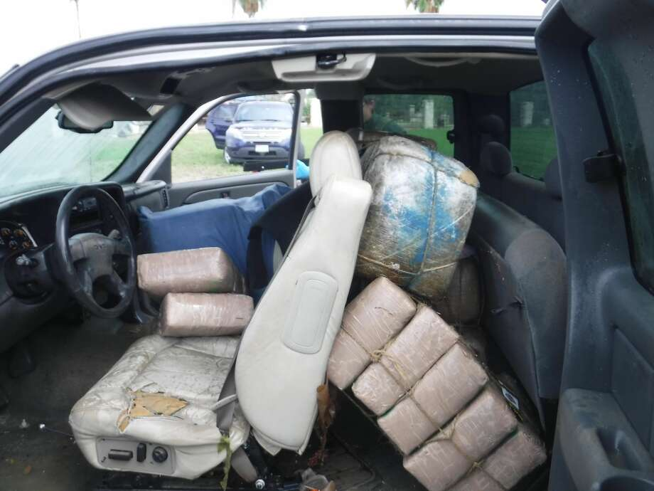 Agents found more than 1,000 pounds of marijuana in the pickup, worth roughly $932,000. Photo: Contributed Photo