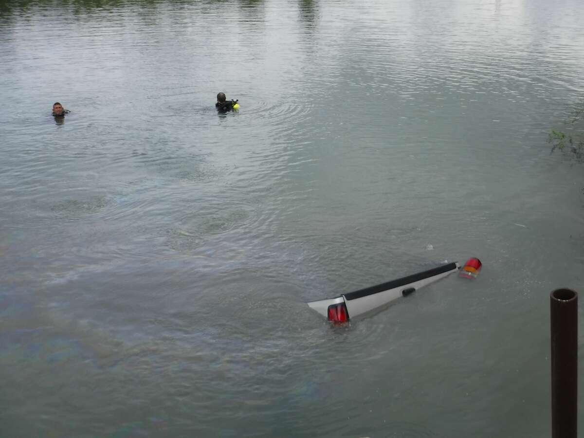 The Border Patrol Search, Trauma and Rescue unit recovers a truck driven into the Rio Grande Valley River.