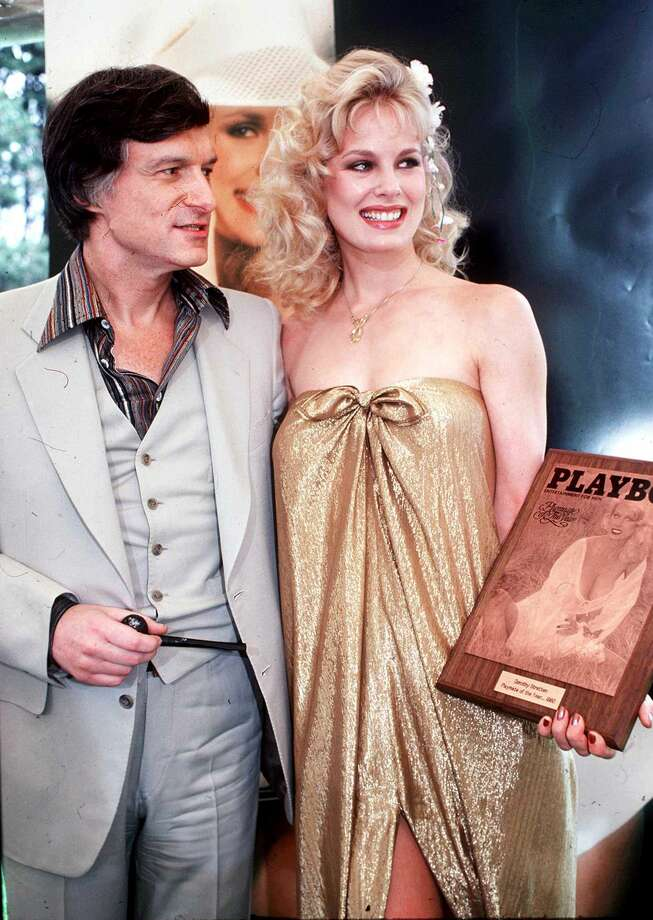 This undated photo from 1980 shows Playboy founder Hugh Heffner with murdered Playmate Dorothy Stratten. Photo: Julian Wasser/Getty Images