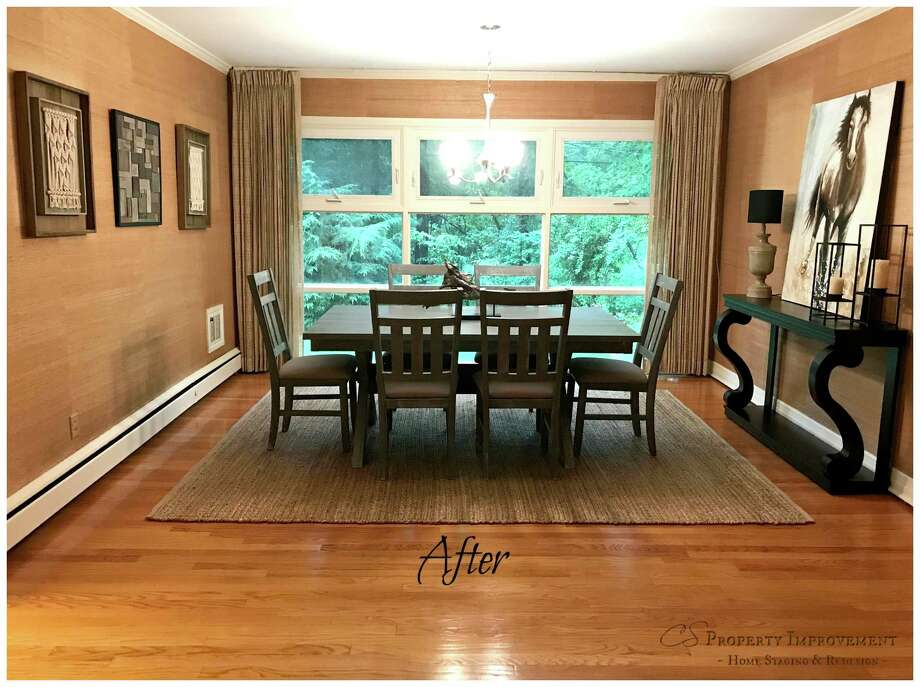 Dining room after staging.
