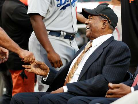 068ac85f6a7900 San Francisco Giants' legend Willie Mays before MLB game at AT&T Park in San  Francisco