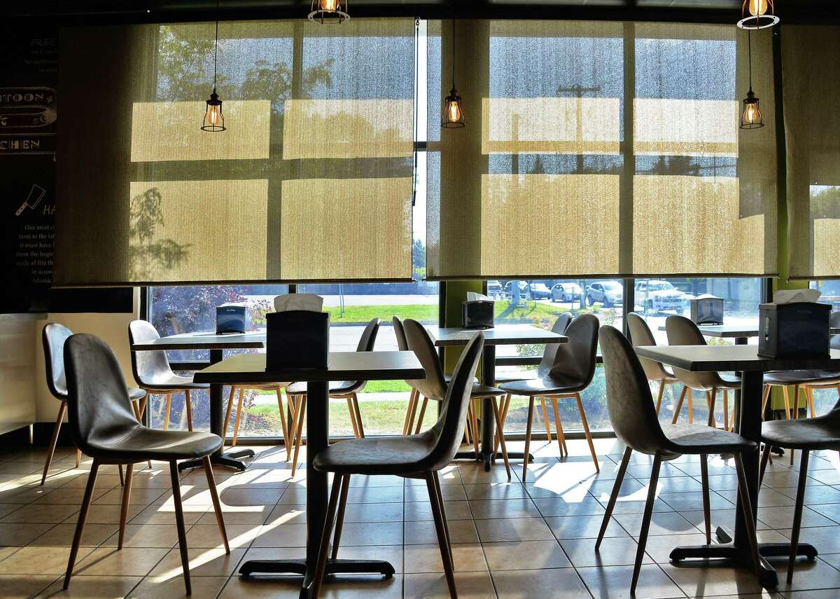 Dining room at Zaitoon Kitchen Tuesday Sept. 19, 2017 in Colonie, NY. (John Carl D'Annibale / Times Union)