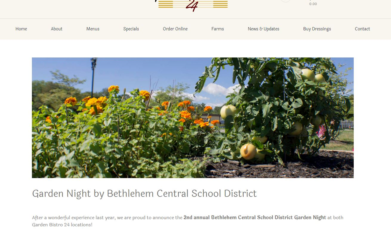 Bethlehem Students Supplying Garden Bistro 24 With Veggies