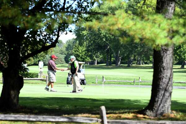 Practice green at the Edison Club on Riverview Road on Friday, Sept, 29, 2017, in Rexford, N.Y. The club wants to build homes and condos on the property to improve its economic outlook. (Will Waldron/Times Union)