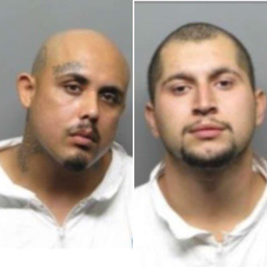 Ignacio Sanchez-Gomez (L.) and Jose Maravilla were arrest Thursday on suspicion of killing 22-year-old Adrian Segoviano-Hernandez, who was found shot to death on Sept. 10 in the driveway of a San Pablo Home. Photo: San Pablo Police Department / /