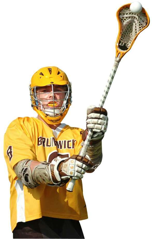 Brunswick lacrosse star Bo Stafford. Photo: Bob Luckey, ST / Greenwich Time