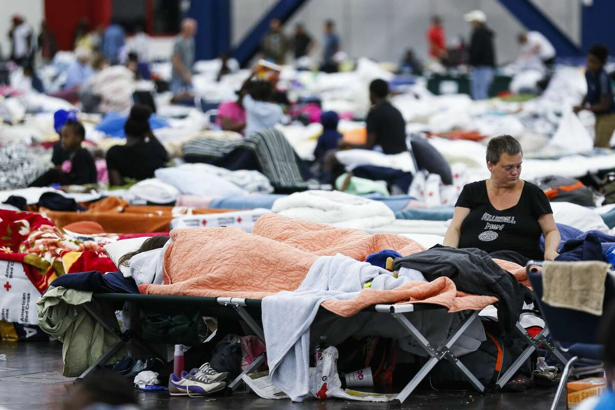 At the George R. Brown Convention Center nearly 10,000 people took shelter following Hurricane Harvey. ( Michael Ciaglo / Houston Chronicle)