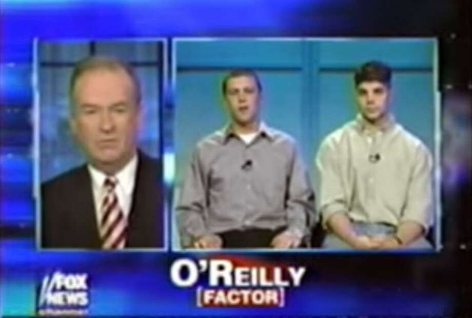 "Dan Drew, right, the Democratic mayor of Middletown and candidate for governor, is seen in this May 2002 episode of ""The O'Reilly Factor."" Photo: Contributed Photo / Contributed Photo / Connecticut Post Contributed"
