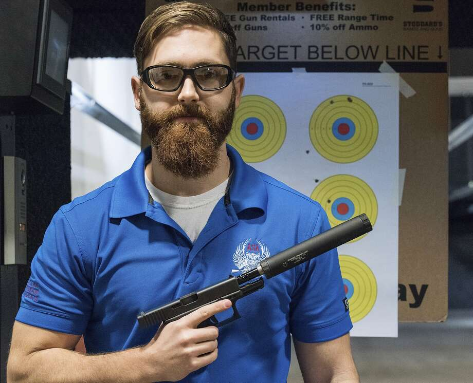 Knox Williams, president and executive director of the American Suppressor Association, in Atlanta. Photo: Lisa Marie Pane, AP