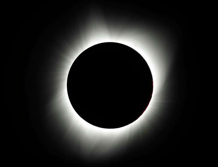 The moon covers the sun during a total eclipse Monday, Aug. 21, 2017, near Redmond, Ore. (AP Photo/Ted S. Warren)