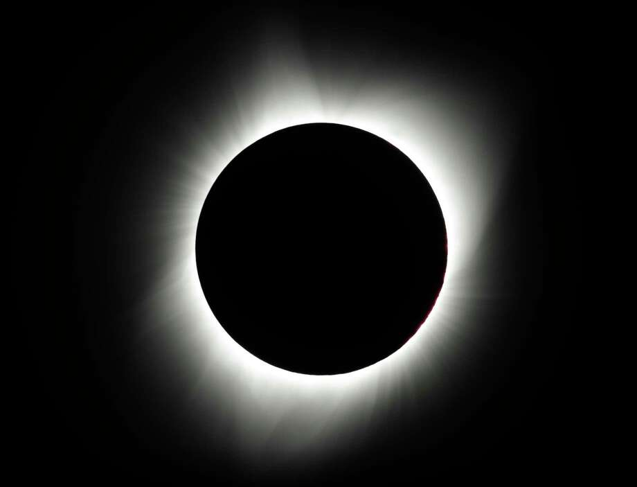 The moon covers the sun during a total eclipse Monday, Aug. 21, 2017, near Redmond, Ore. (AP Photo/Ted S. Warren) Photo: Ted S. Warren, STF / Copyright 2017 The Associated Press. All rights reserved.