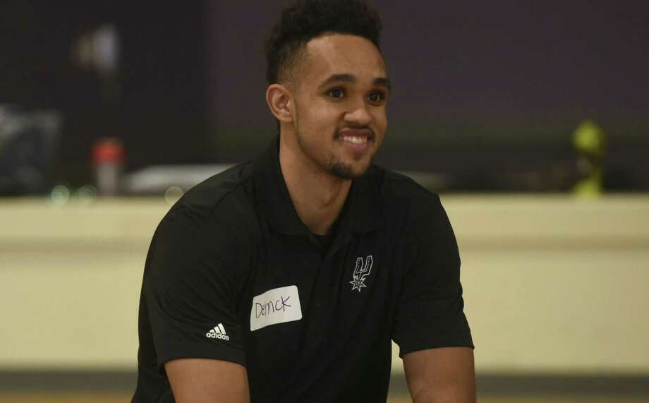 San Antonio Spurs 2017 draft pick Derrick White relaxes after participating in a South Texas Regional Adaptive & Paralympic Sports wheelchair basketball clinic at Morgan's Wonderland on June 28, 2017. Photo: Billy Calzada /San Antonio Express-News / San Antonio Express-News