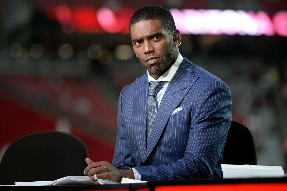 GLENDALE, AZ - SEPTEMBER 25:  ESPN analysts Randy Moss on set during the MNF broadcast prior to the NFL game between the Dallas Cowboys and Arizona Cardinals at University of Phoenix Stadium on September 25, 2017 in Glendale, Arizona.  (Photo by Jennifer Stewart/Getty Images) Photo: Jennifer Stewart/Getty Images