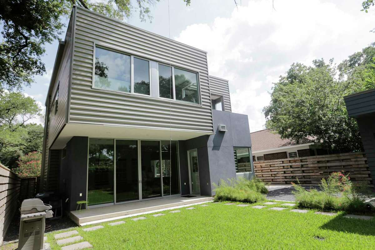 Christopher and Kimberly Hight's Montrose home built with the help of general contractor and architect Camilo Parra on Tuesday, Aug. 1, 2017, in Houston. ( Elizabeth Conley / Houston Chronicle )