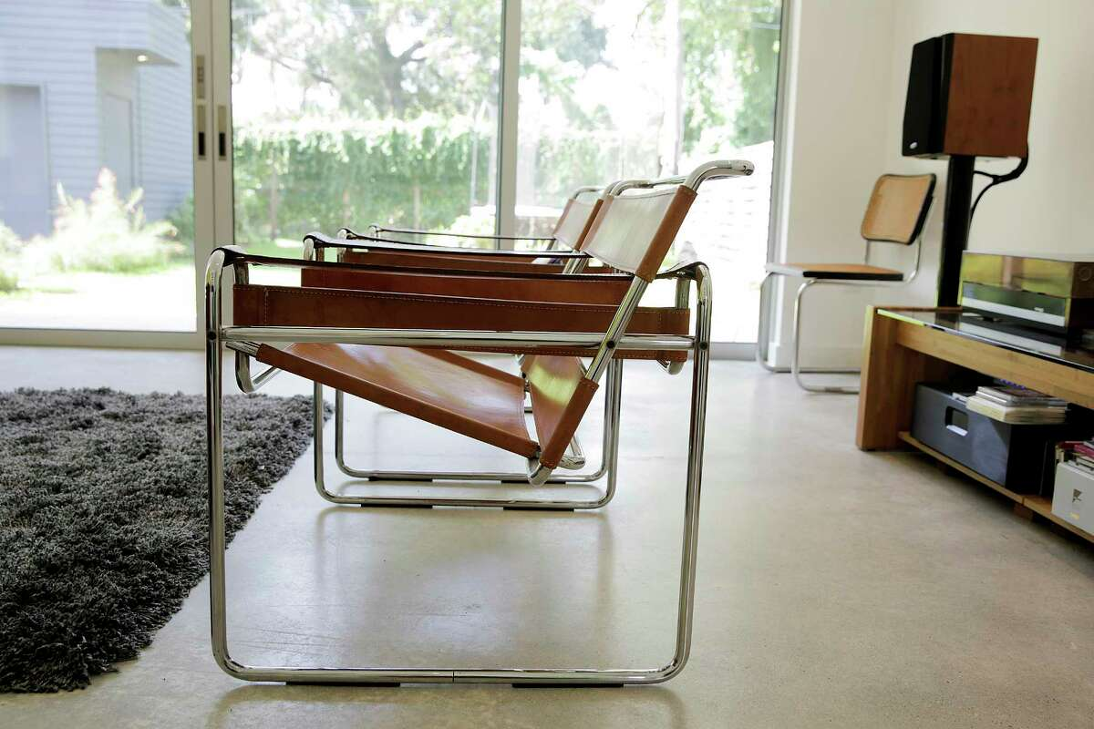 Wassily chairs given to Christopher Hight from his parents are used in his Montrose home on Tuesday, Aug. 1, 2017, in Houston. ( Elizabeth Conley / Houston Chronicle )