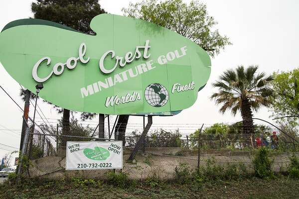 Cool Crest Miniature Golf has been a San Antonio fixture for more than 80 years. The restored sign, as seen in April 2014 at the site's hilltop location on Fredericksburg Road, heralds a new era for Cool Crest patrons old and new that's all about preserving its past for another generation.