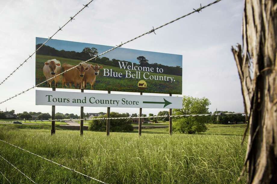 A billboard on US Highway 290 points the way to the Blue Bell Creameries in 2015 in Brenham, Texas. Legislation and a rule change could pave the way for billboards larger than this. Photo: Smiley N. Pool /AP / AP