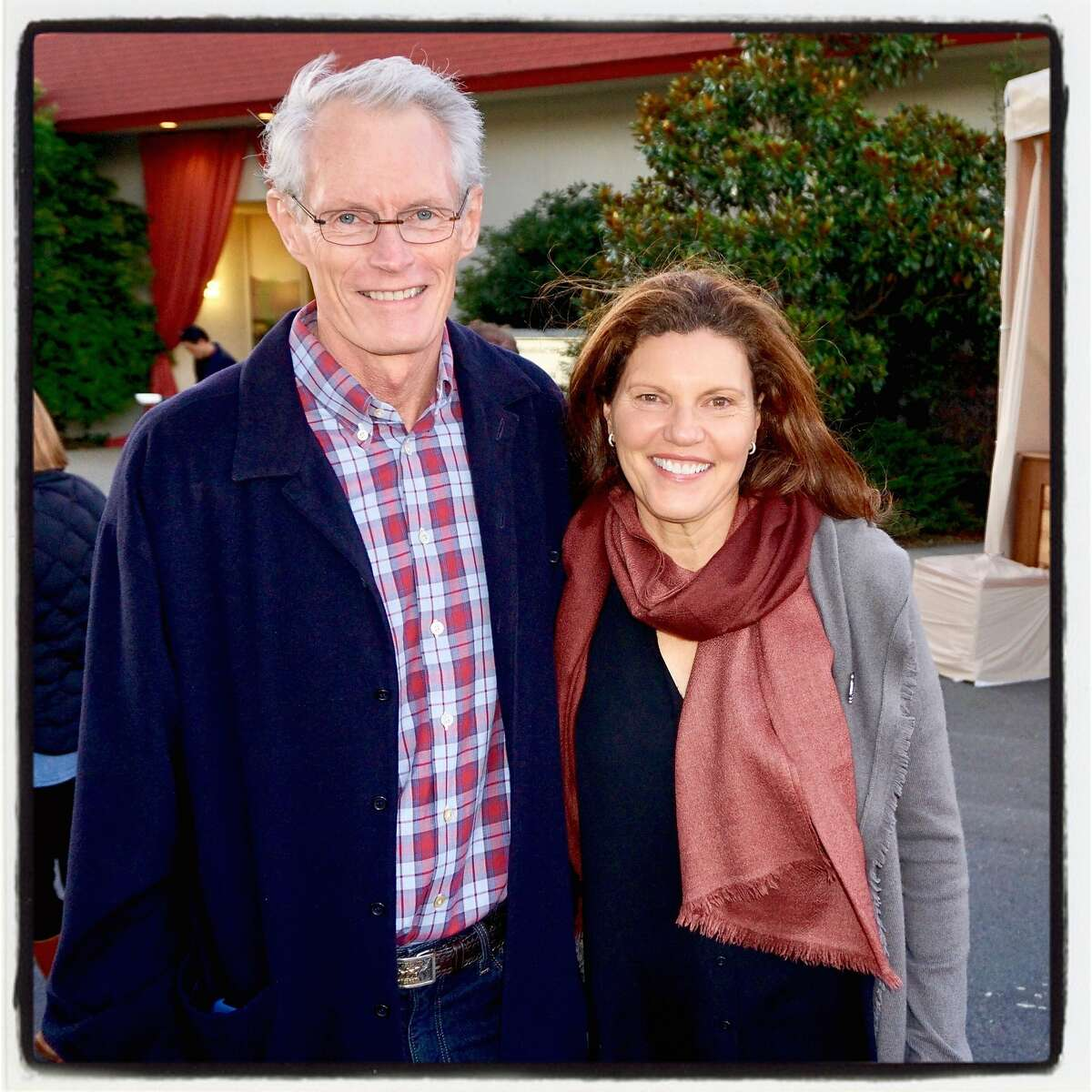 GGPNC Board Chairman Colin Lind and his wife, Anne, at the Trails Forever Dinner. Sept. 23. 2017.