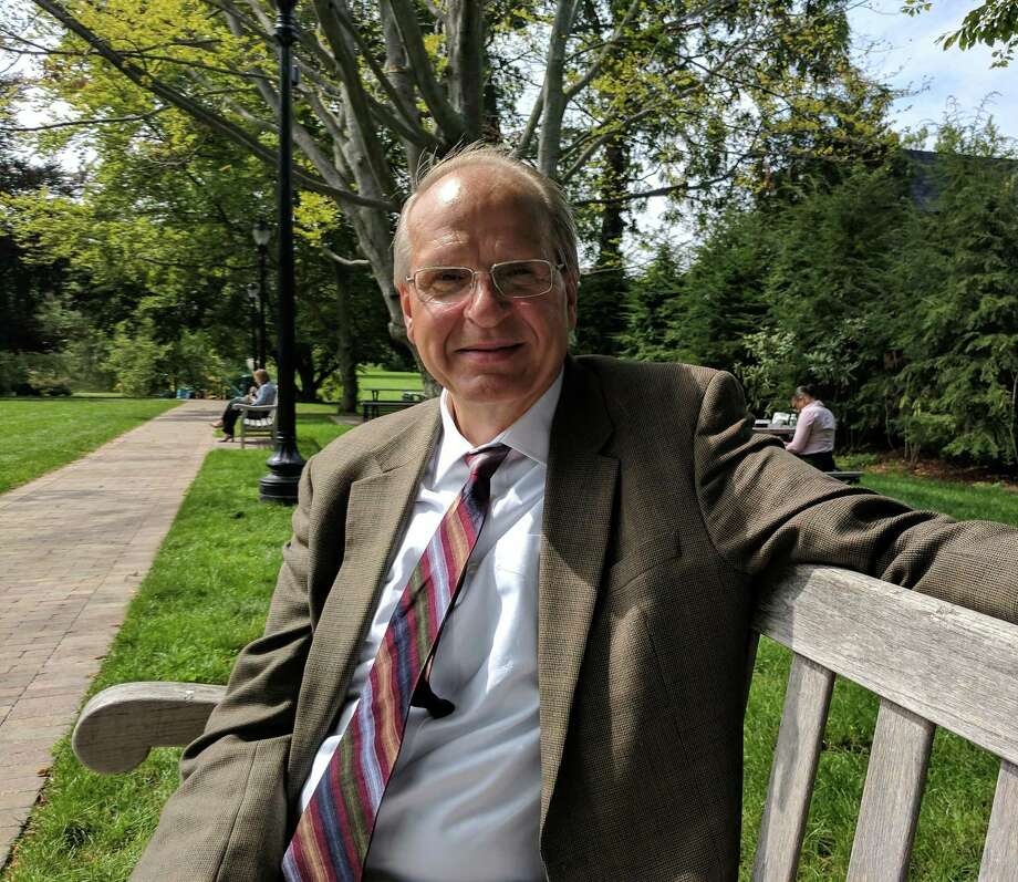 Ari Maunula is an accountant with Marcum Accountants — he's been working in Greenwich for about 25 years or so and enjoys spending lunch breaks taking walks or sitting in the park on Greenwich Avenue. Photo: Jennifer Turiano / Hearst Media CT