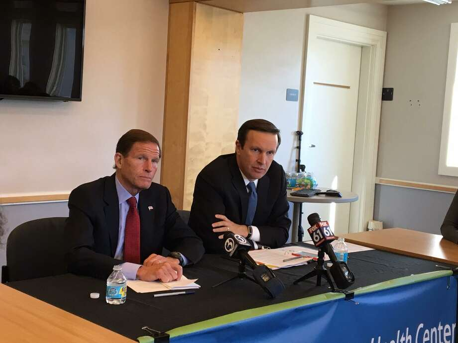 U.S. Sens. Richard Blumenthal and Chris Murphy shared some bad funding news with community health center leaders. Photo: Mary O'Leary / Hearst Connecticut Media