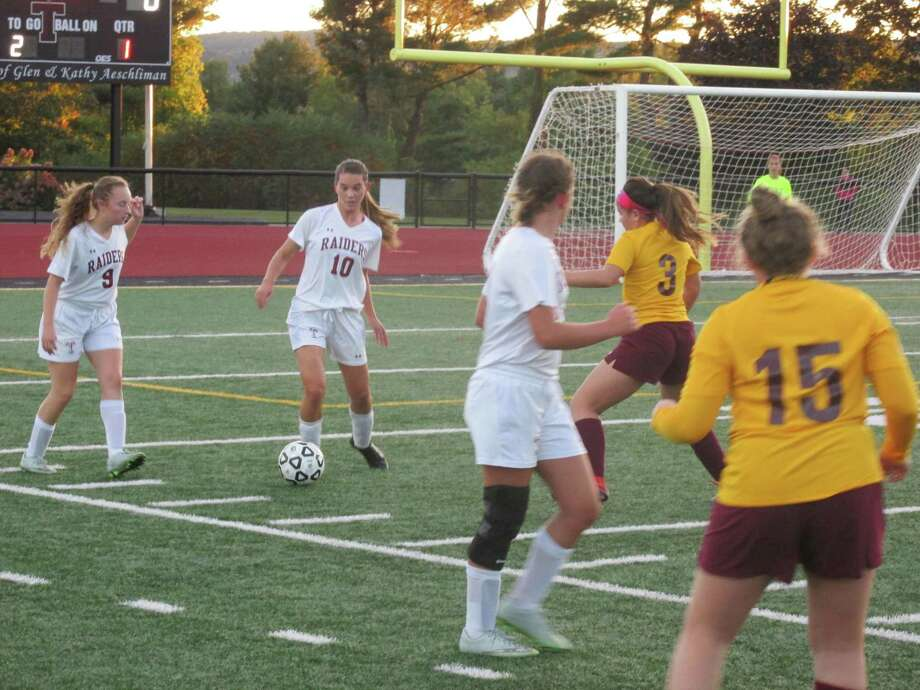 The Torrington girls soccer team beat Sacred Heart 2-1 on Friday at Torrington's Robert H. Frost Sports Complex. Photo: Peter Wallace / For Hearst Connecticut Media