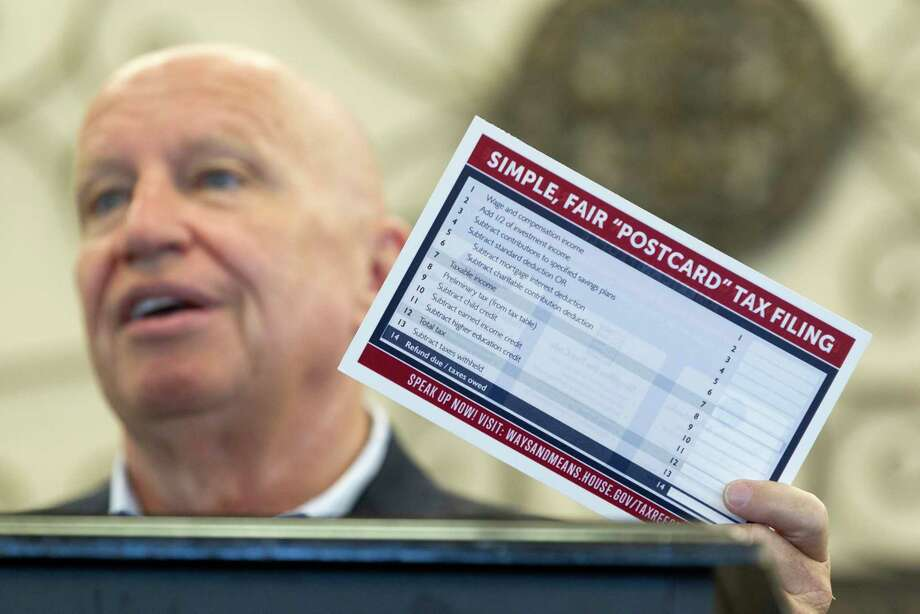 U.S. Rep. Kevin Brady, R-The Woodlands, addresses tax reform during a breakfast hosted by the Conroe / Lake Conroe Area Chamber of Commerce at April Sound Country Club, Tuesday, Aug. 15, 2017, in Montgomery. Photo: Jason Fochtman, Staff Photographer / © 2017 Houston Chronicle