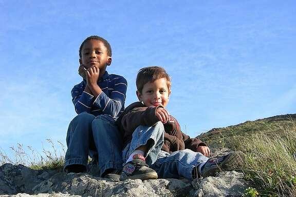 True San Franciscans -- or Friskies: Zane (left) and Aidan.
